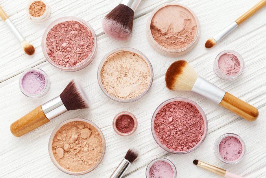 Makeup on desk